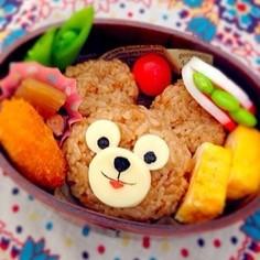 ☆桜ごはんでダッフィー☆キャラ弁