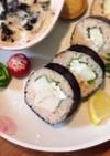 柔らか鶏と明太子のヨーグルト巻き寿司