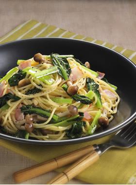 小松菜のカンタン和風パスタ
