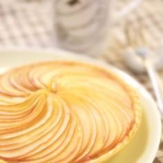 甘さ控えめ☆リンゴ&カスタードのタルト