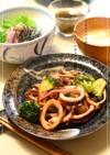 イカとブロッコリーの中華風甘酢炒め
