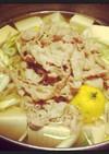 まるっと柚子と塩麹のネギ豚鍋