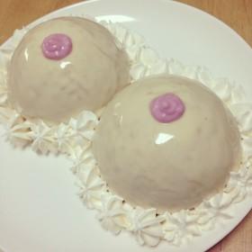 おっぱいムースケーキ