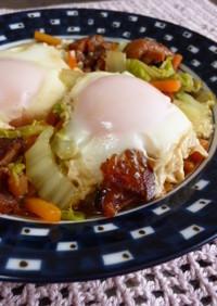◆焼き鳥缶de巣ごもり卵の白菜煮◆