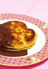 簡単♡お好み焼き粉でもちふわパンケーキ風