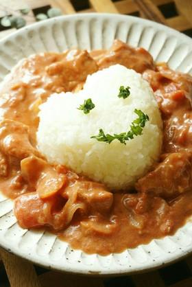 m簡単☆鶏のトマトクリーム煮