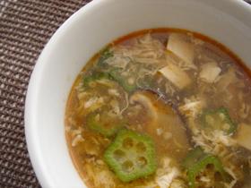 酢辣湯(サンラータン)風スープ