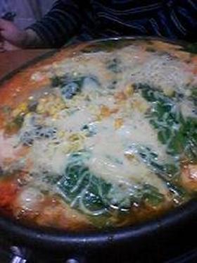 豚キムチーズ鍋