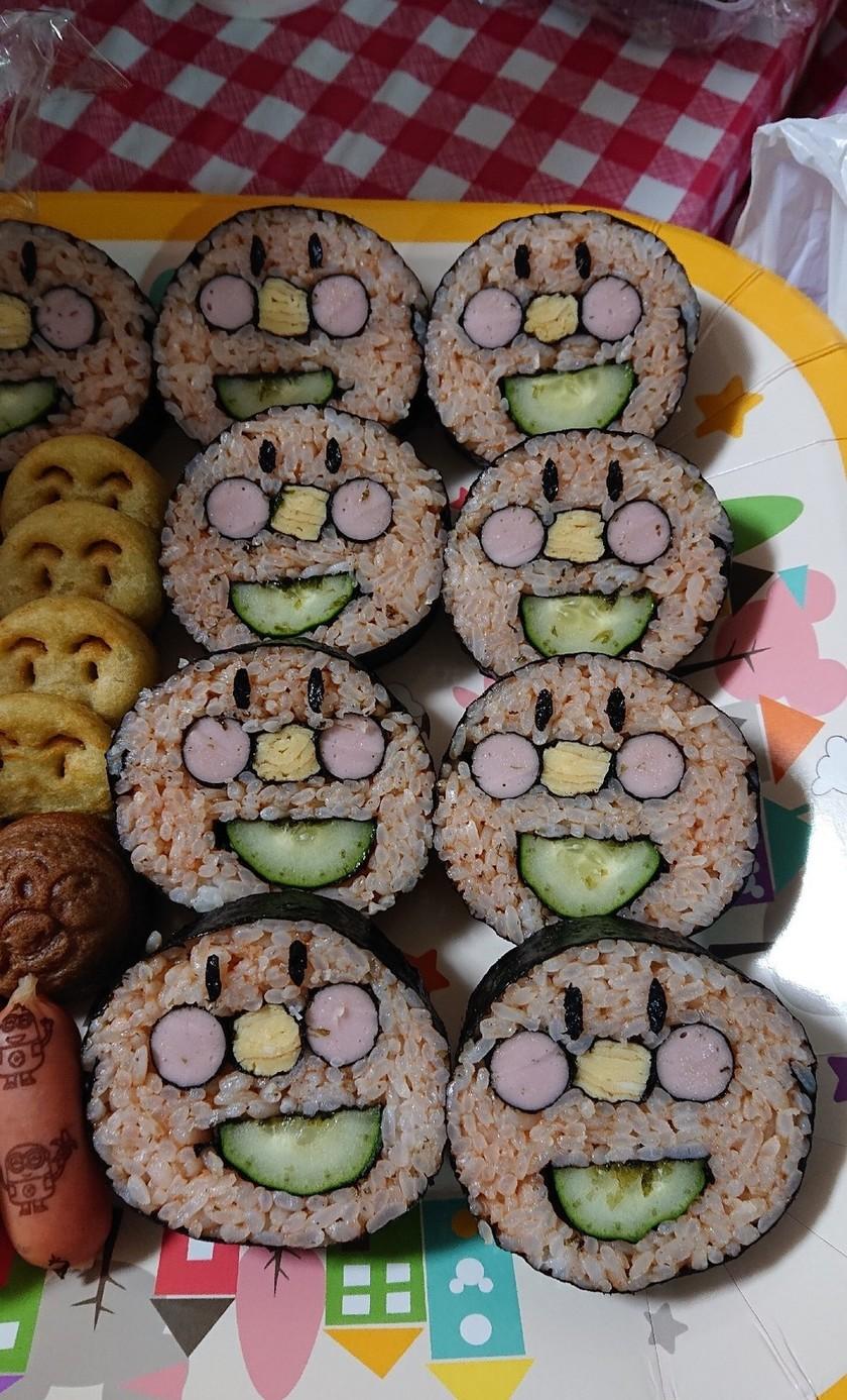 子供が大喜び!!アンパンマン巻き寿司