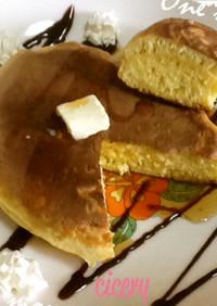ヨーグルトで分厚いホットケーキ 簡単10