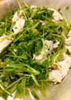 豆苗と鶏ササミのオリーブオイルサラダ