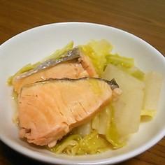 甘塩鮭とキャベツのあっさり煮