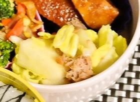 袋で簡単リンゴと白菜とツナのサラダ