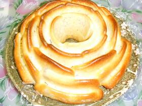 苺風味のバナナケーキ