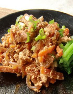 ピリ辛味噌の炒り豆腐