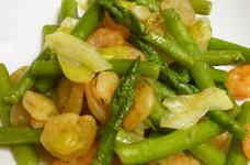 簡単☆アスパラとエビの炒め物