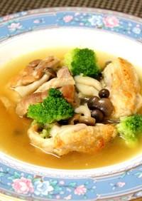 プチッと鍋で長崎鶏のカレースープ