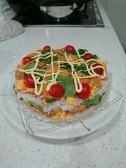 寿司ケーキの写真