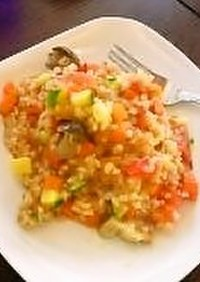 玄米でキレイに【トマト玄米リゾット】