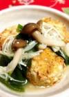 豆腐と蓮根のふわふわ揚げ・きのこあんかけ