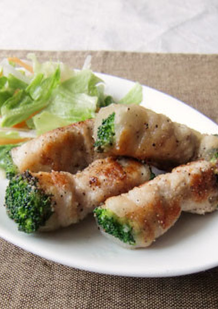 ブロッコリーの豚肉巻き