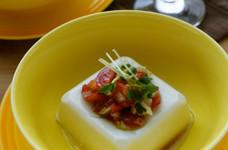 ダイエットにお豆腐のバジルトマトサラダ♪