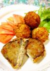 蓮根の豆腐挟み揚げ梅肉風味&ふわふわ団子