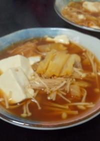 ☆プチッと鍋♪ヘルシーキムチスープ☆