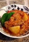ストウブで鶏モモ肉とキャベツのトマト煮♡