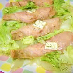 レンジで簡単❤鮭と白菜のワイン蒸し❤