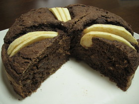 チョコバナナのおからケーキ(リンゴつき)