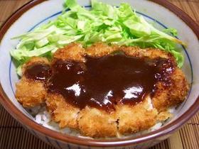 甜麺醤でみそかつ丼