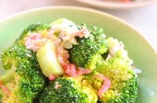 ブロッコリーと桜海老の塩麹ナムル風