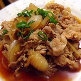 簡単♪豚バラ肉としらたきの炒め煮