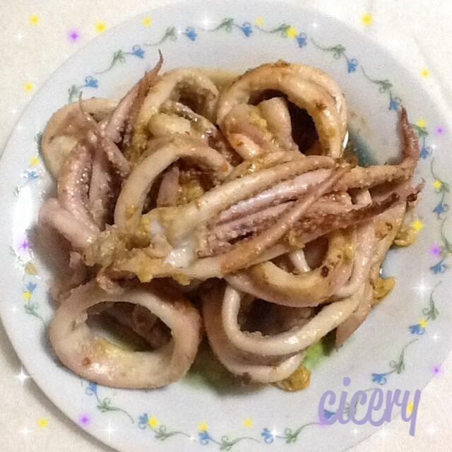 スルメイカのマヨネーズ炒め 簡単14