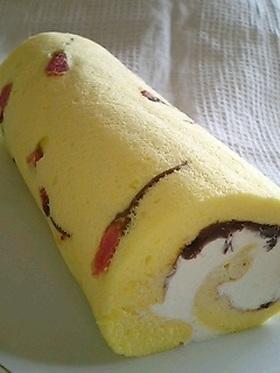 サクラ咲く*ロールケーキ