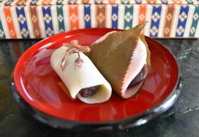 簡単♪ ホットプレートで関東風桜餅