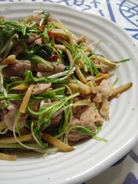 水菜と豚の炒め物