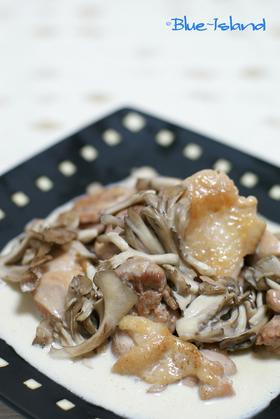 鶏と舞茸の♪簡単クリーム煮♪