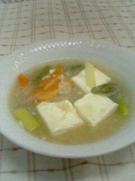 豆腐とアスパラのトロミ煮
