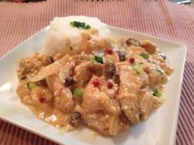 鶏胸肉と豆腐で❗️ストロガノフ風