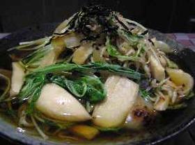 水菜とエリンギのガーリックじゃこ炒め