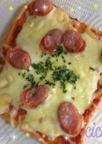 即席ピザソースでピザトースト 簡単15