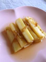 ブロッコリー茎のかつおだし醤油浸しの写真