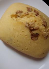 HBで簡単チョコくるみ蒸しパン