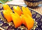 お弁当に^ ^食べやす〜いオレンジうさぎ