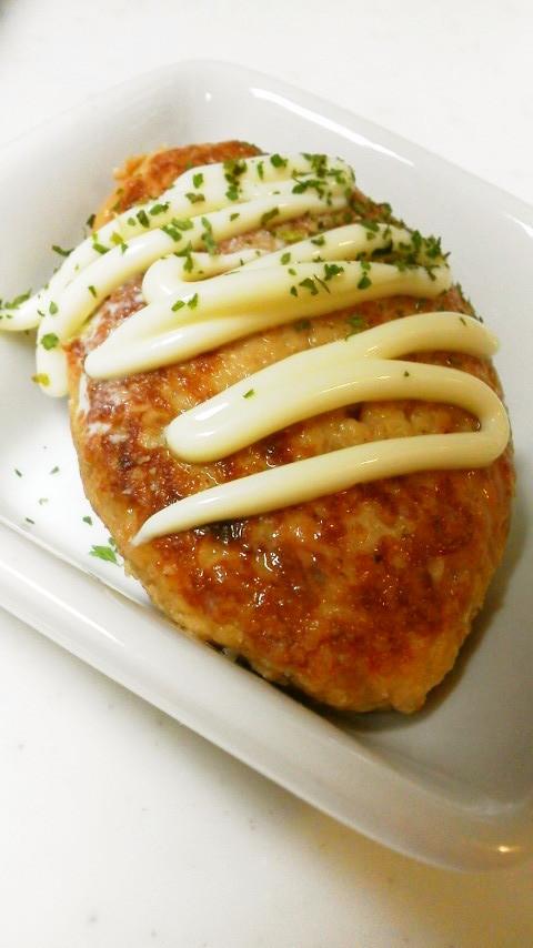 鶏挽き肉の照り焼きハンバーグ☆つくね風