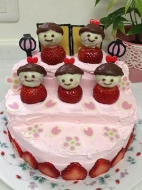 かわいぃお雛様ケーキ♡