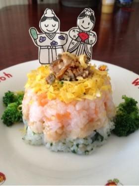 ♡離乳食☆三色押し寿司♡ひなまつり