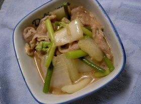 豚肉と白菜のオイスターソース炒め